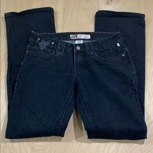 Mecca Femme Dark Wash Straight Leg Blue Jeans 5/6
